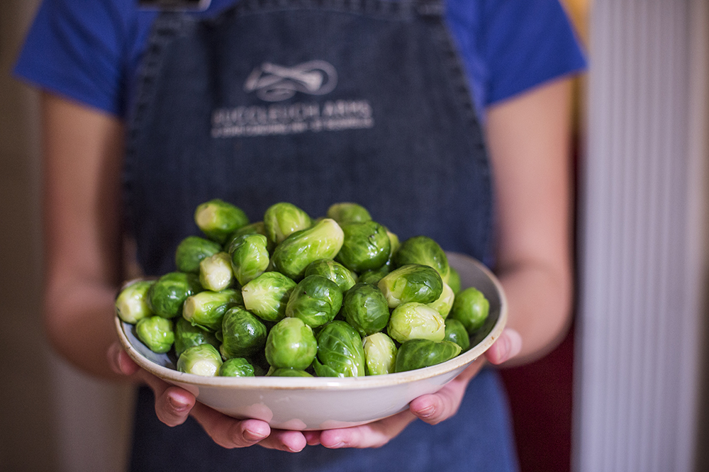 We love brussel sprouts at the buccleuch arms