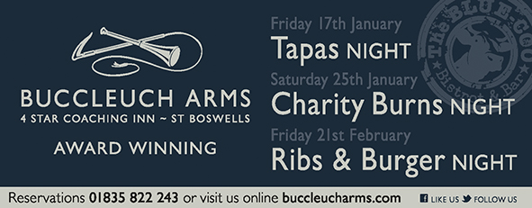 What's on this month at The Buccleuch Arms?